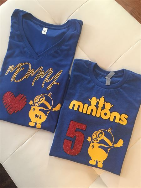 Mother And Son Family Minion Birthday Shirts