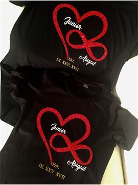 Personalized Infinity Symbol Love Shirts, Couples Shirts, His and Hers Shirt, Valentines Day Shirt, Lovers Shirts