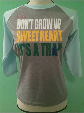 Personalized Youth Unisex CVC 3/4 Sleeve Ragland - Don't Grow Up It's A Trap