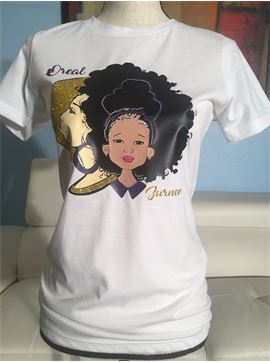 Personalized Afro Mom T-shirt (single shirt)