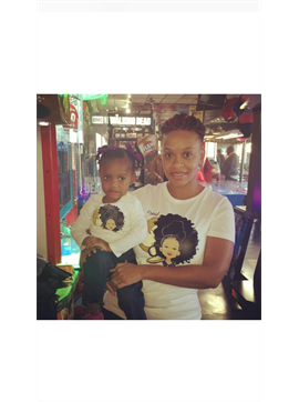 Personalized Afro Mom & Daughter T- shirt Combo Pack