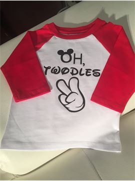 Disney Inspired Mickey Baby Baseball Birthday T-shirt - Oh Twodles