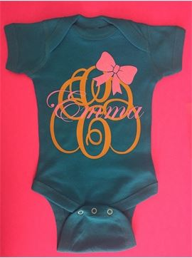 Personalized Monogrammed Infant Baby Onsie Body Suit