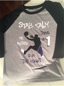 Personalized Basketball Brother Ragland Shirt - Stay Calm - My Brother Is On The Court