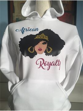 Personalized Girls Afro Pride Hoodie (Glitter) - African Royalty