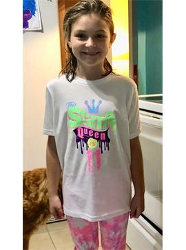 Personalized Girls 11th Birthday Shirt, Customized Birthday Shirt, Slime Themed Birthday shirt, Kids Birthday Shirt - This Slime Queen is 11