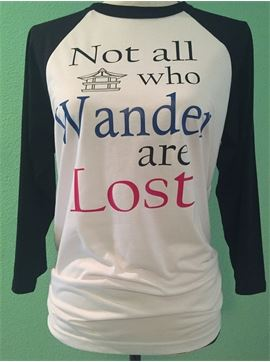 Unisex Baseball 3/4 Sleeve Bella Canvas Vacation T-Shirt - Not All Who Wander Are Lost