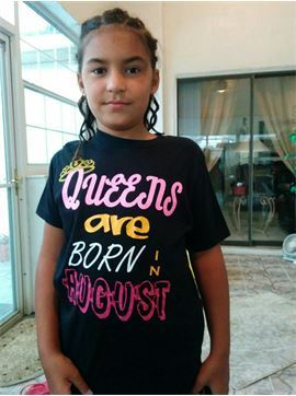 Queens Are Born In August - Youth Unisex Crew T Shirt